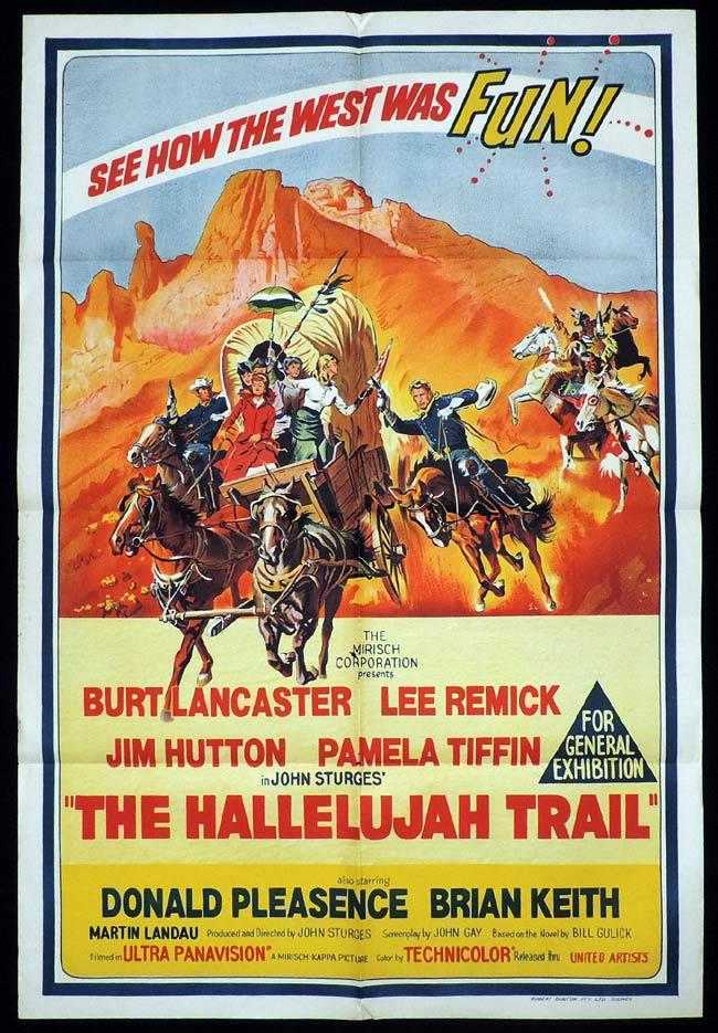 THE HALLELUJAH TRAIL One Sheet Movie Poster Randoph Scott