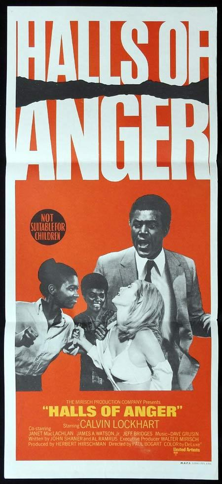 HALLS OF ANGER Original Daybill Movie Poster Calvin Lockhart Janet MacLachlan