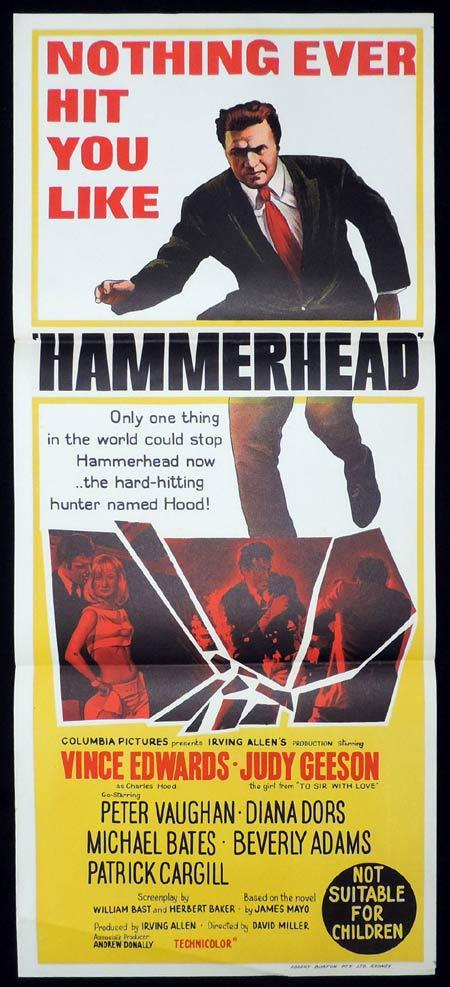HAMMERHEAD Daybill Movie poster Vince Edwards Judy Geeson