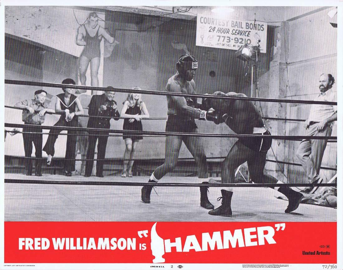 HAMMER Lobby Card 6 Blaxploitation Fred Williamson Bernie Hamilton