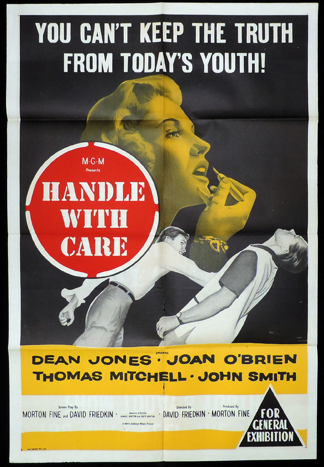 Handle with Care, David Friedkin, Dean Jones, Joan O'Brien, Thomas Mitchell, John Smith, Walter Abel, Burt Douglas, Anne Seymour, Royal Dano, Ted de Corsia, Peter Miller, Ron Barbanell , Carol Brewster, Don Burnett, Nick Clooney, Helen Dee