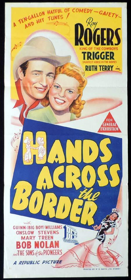 HANDS ACROSS THE BORDER Original Daybill Movie Poster Clark Roy Rogers