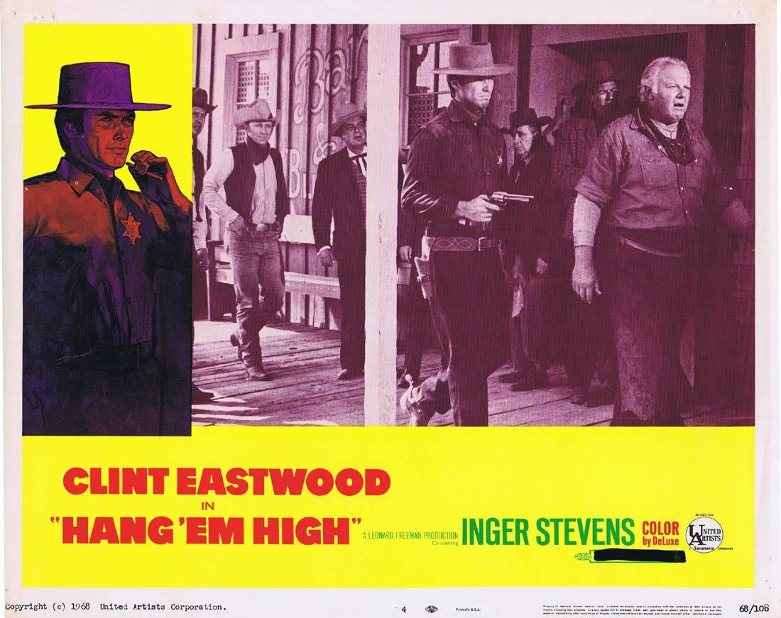 HANG EM HIGH Vintage Movie Lobby Card 4 Clint Eastwood Inger Stevens Ed Begley Pat Hingle