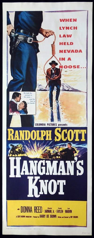 HANGMAN'S KNOT US Insert Movie Poster Randolph Scott