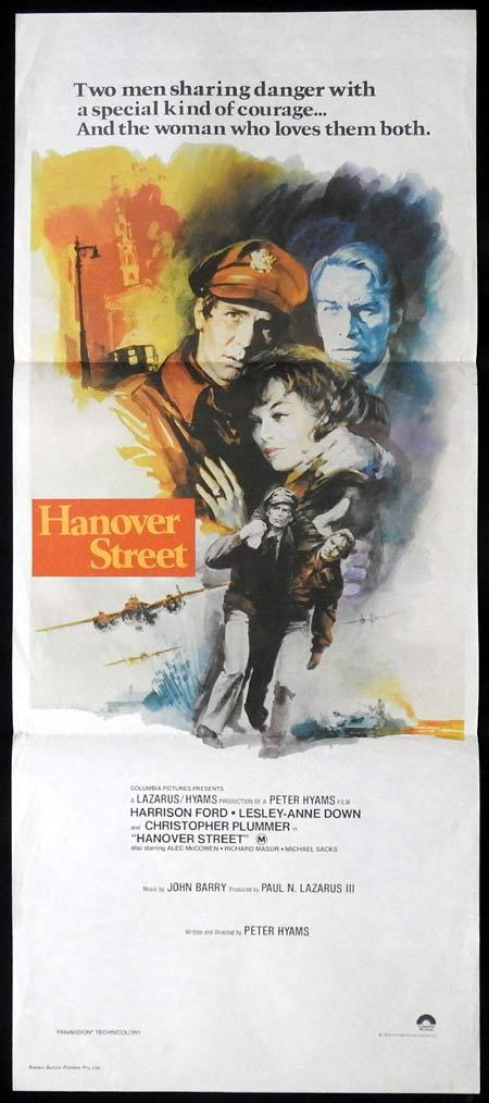 HANOVER STREET Daybill Movie Poster Harrison Ford Lesley-Anne Down Christopher Plummer