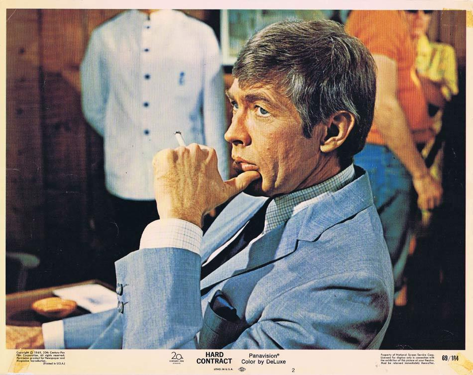 HARD CONTRACT Lobby Card 2 James Coburn Lee Remick