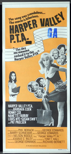 HARPER VALLEY P.T.A. 1978 Barbara Eden Daybill Movie Poster