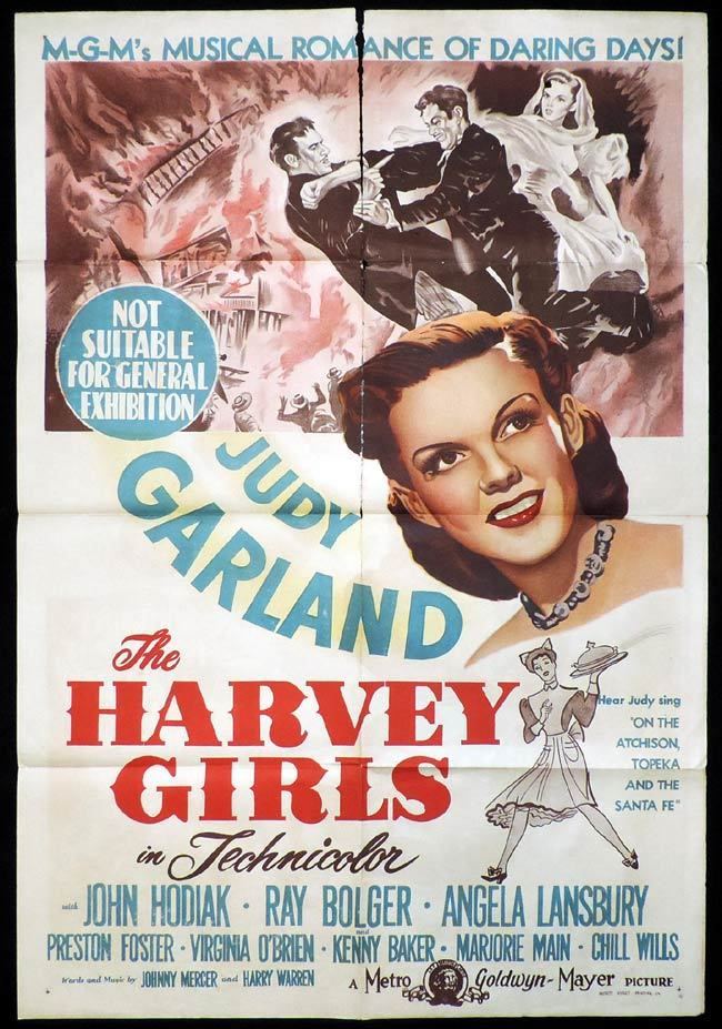 THE HARVEY GIRLS One Sheet Movie Poster Judy Garland