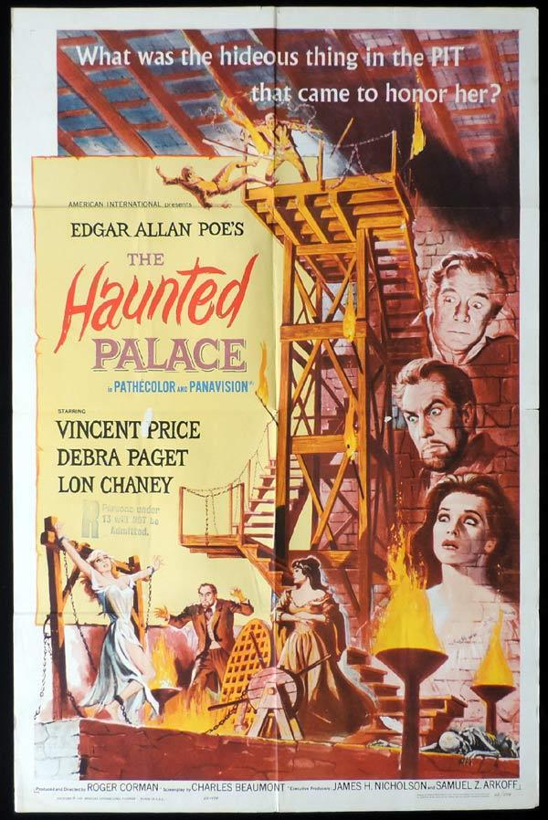 THE HAUNTED PALACE One Sheet Movie Poster Vincent Price