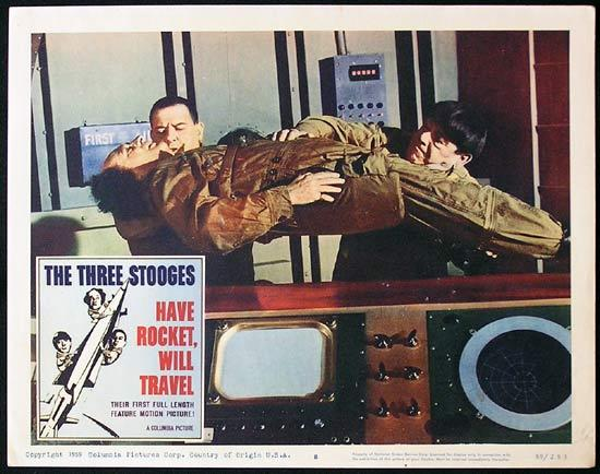 THREE STOOGES HAVE ROCKET WILL TRAVEL 1959 3 Stooges Lobby card 8