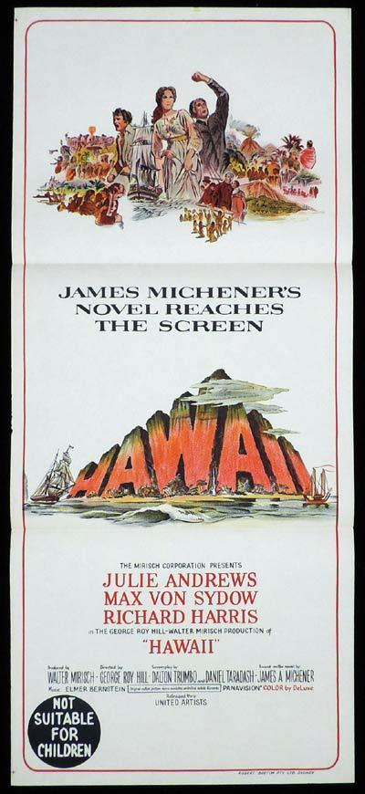 HAWAII Original Daybill Movie Poster Julie Andrews Max Von Sydow