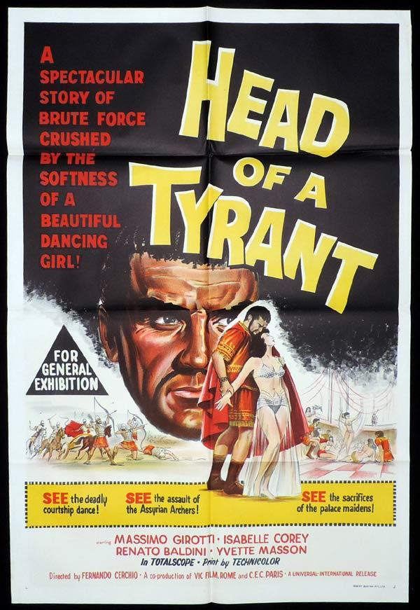 HEAD OF A TYRANT One Sheet Movie Poster Massimo Girotti
