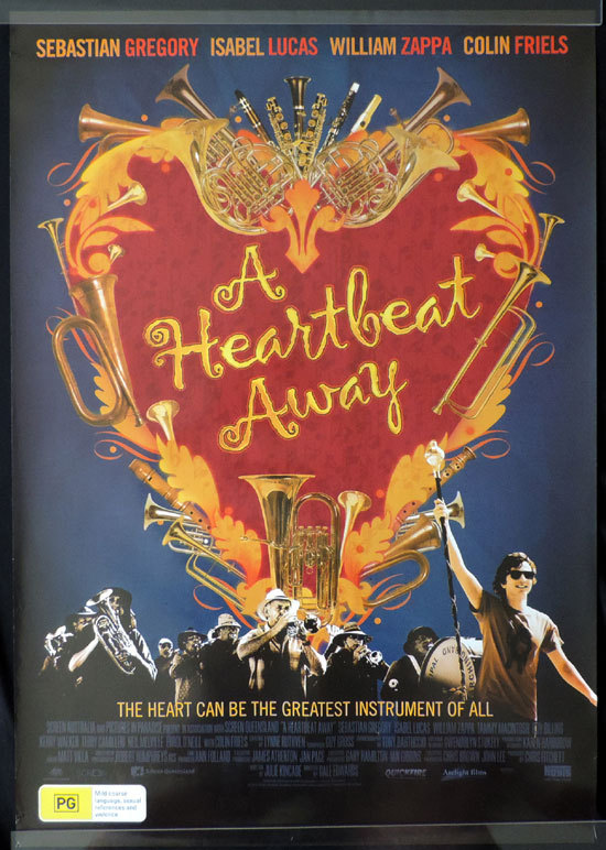 A HEARTBEAT AWAY, Movie poster, Colin Friels, Sebastian Gregory, Australian Cinema, One sheet