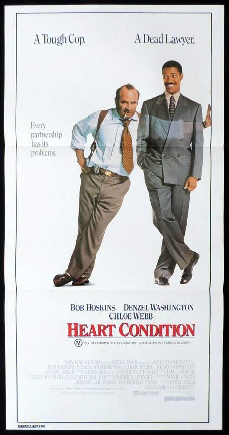 HEART CONDITION Original Daybill Movie Poster Denzel Washington Bob Hoskins