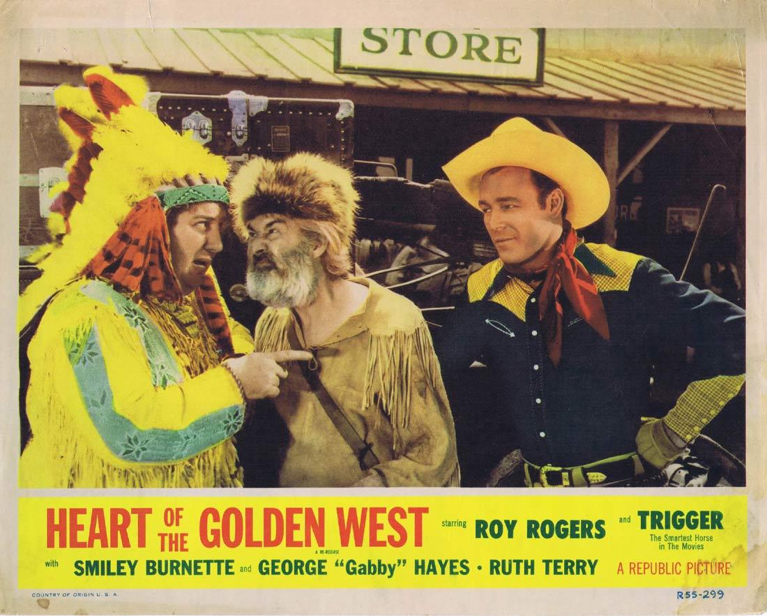HEART OF THE GOLDEN WEST Original Lobby Card Roy Rogers Ruth Terry 1955r