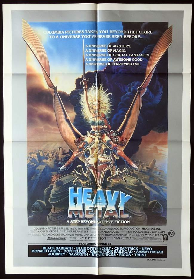 HEAVY METAL Original One sheet Movie Poster Ivan Reitman Black Sabbath Sci Fi