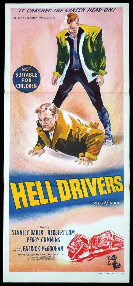 HELL DRIVERS Daybill Movie Poster Stanley Baker