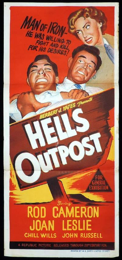 HELL'S OUTPOST Daybill Movie poster Rod Cameron