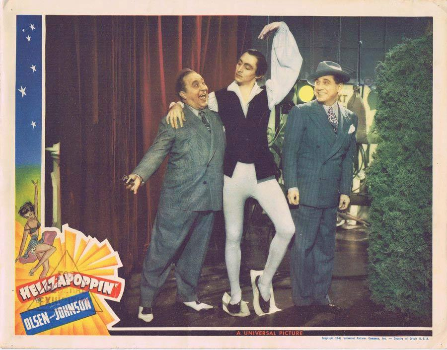 HELLZAPOPPIN Lobby Card Olsen and Johnson