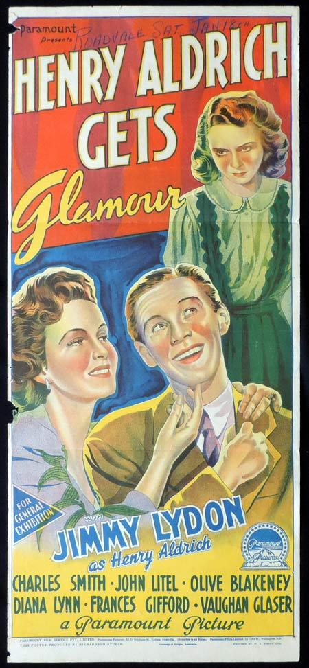 HENRY ALDRICH GETS GLAMOR Original Daybill Movie Poster JIMMY LYDON Richardson Studio