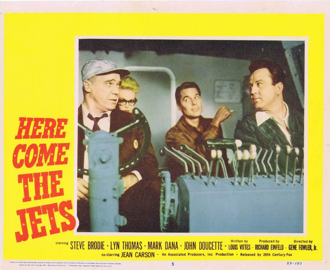 HERE COME THE JETS Lobby Card 5 Steve Brodie Lyn Thomas Mark Dana John Doucette
