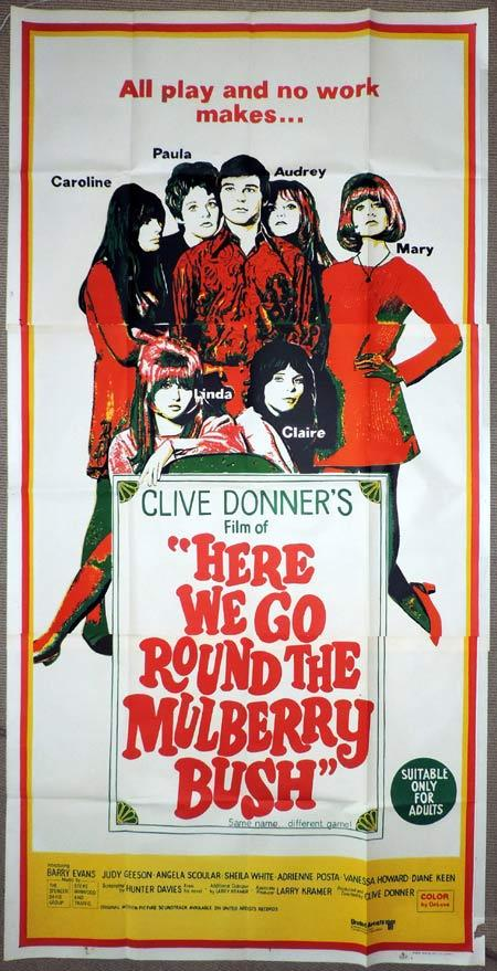 HERE WE GO ROUND THE MULBERRY BUSH Original 3 Sheet Movie Poster Barry Evans