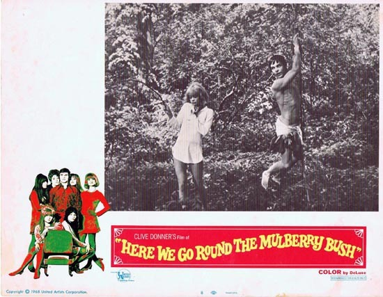 HERE WE GO ROUND THE MULBERRY BUSH Lobby Card 1968 Barry Evans Clive Donner