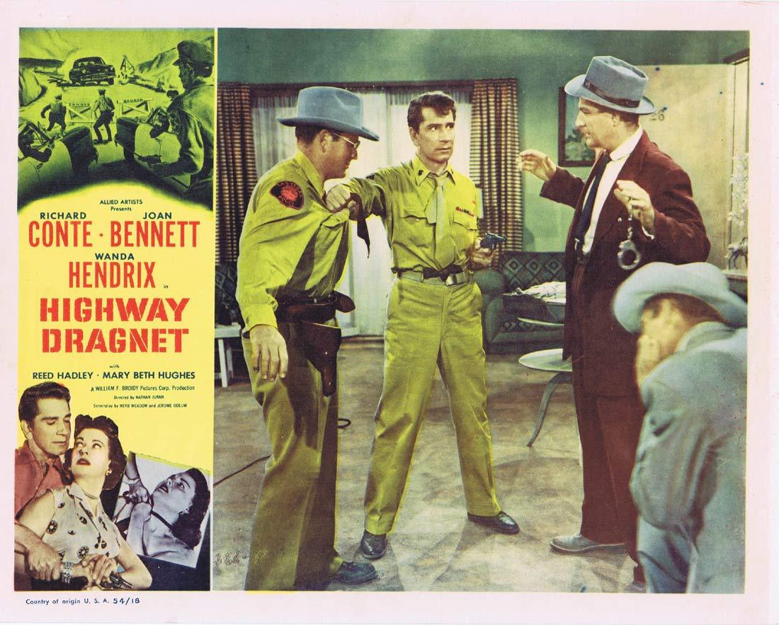 HIGHWAY DRAGNET Original Lobby Card 2 Richard Conte Joan Bennet