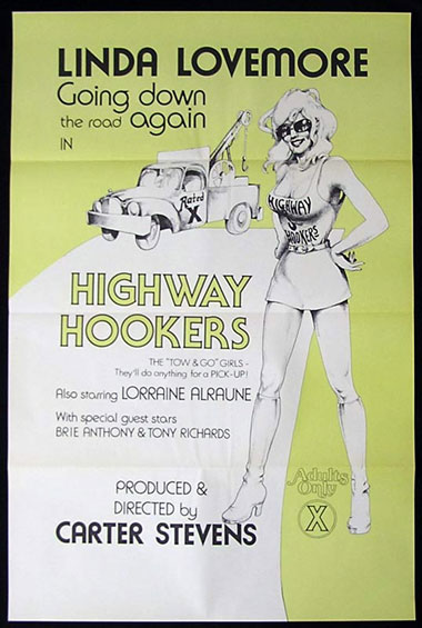 HIGHWAY HOOKERS 1sheet '76 Linda Lovemore, sex US one sheet poster