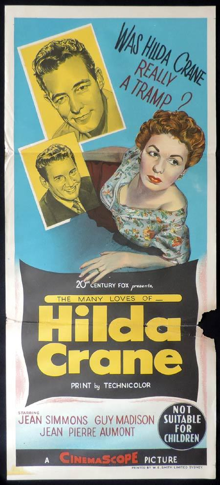 HILDA CRANE Daybill Movie Poster Guy Madison Jean Simmons