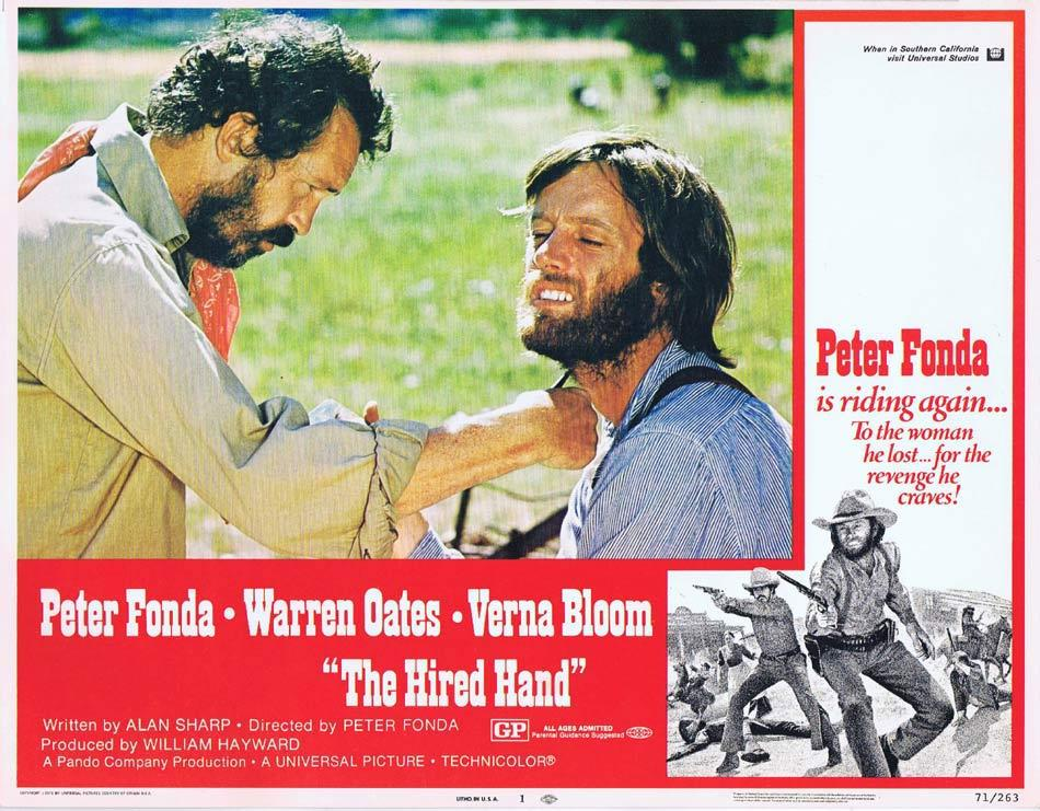 THE HIRED HAND Lobby Card 1 Peter Fonda Warren Oates Verna Bloom