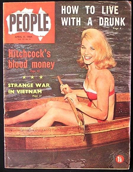 ALFRED HITCHOCK Rare 4 Page 1964 Magazine Spread-HITCHCOCKS BLOOD MONEY!