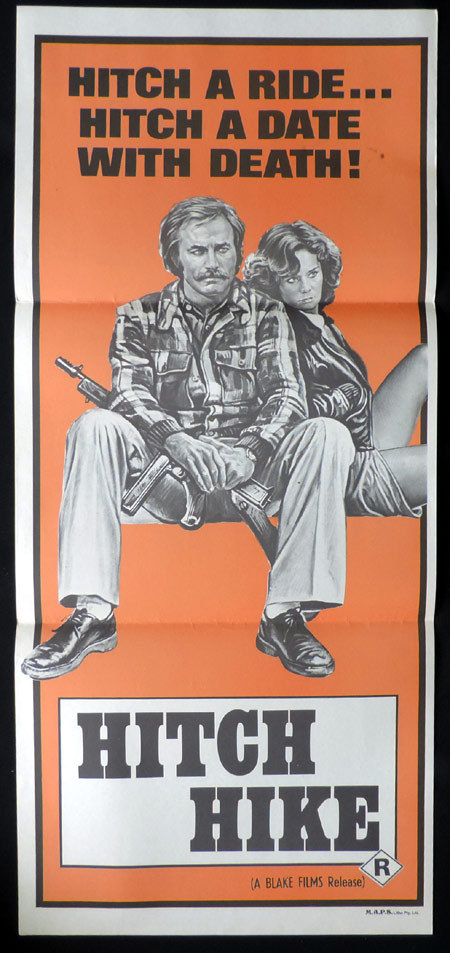 HITCH HIKE, Franco Nero, Horror, VINTAGE, Australian Daybill, Movie poster
