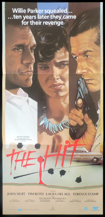 THE HIT Original Daybill Movie poster John Hurt Terence Stamp