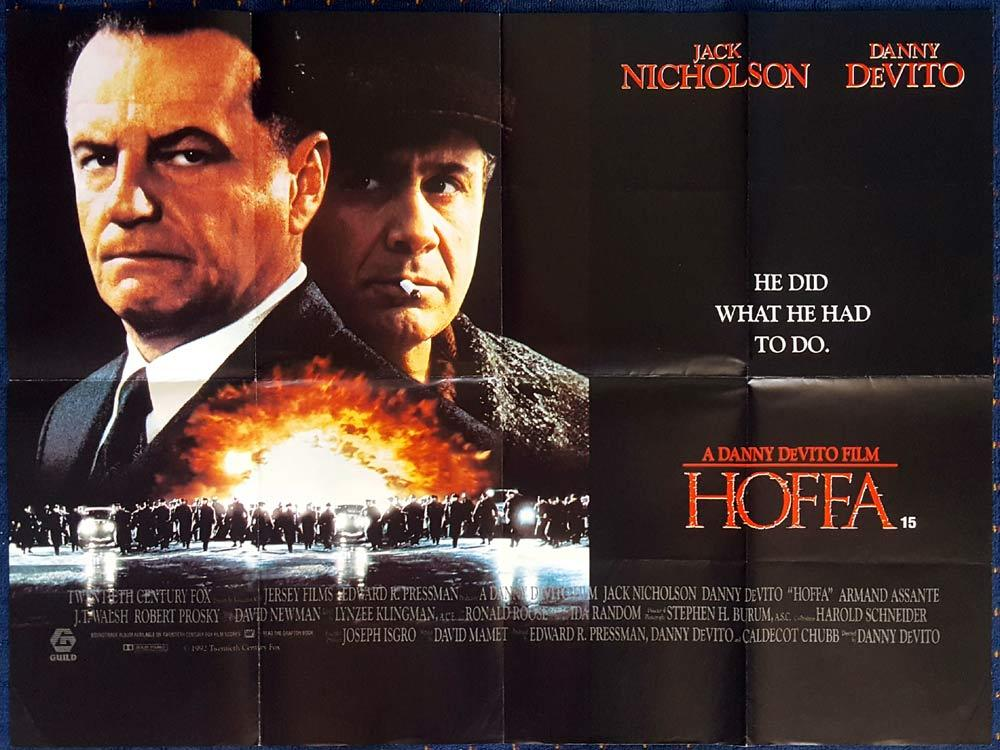 HOFFA Original British Quad poster Jack Nicholson Trade Union