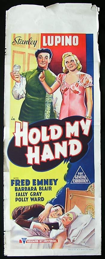 HOLD MY HAND '38 RARE Long Daybill poster