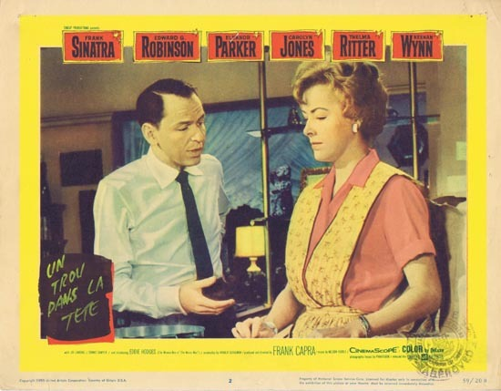 A HOLE IN THE HEAD 1959 Lobby Card 2 Frank Sinatra