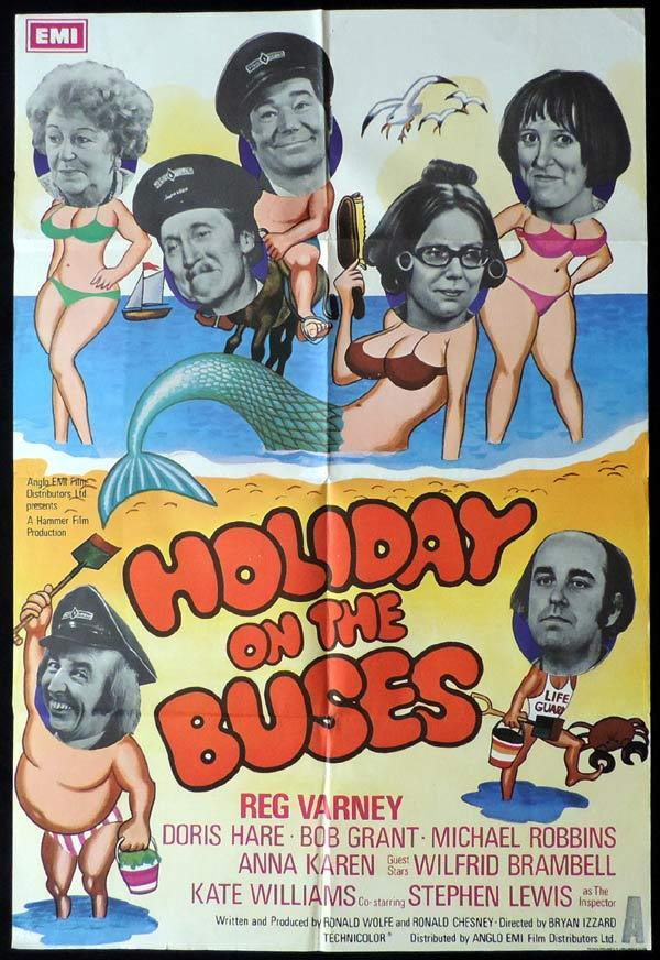 HOLIDAY ON THE BUSES British One Sheet Movie Poster James Robertson Justice