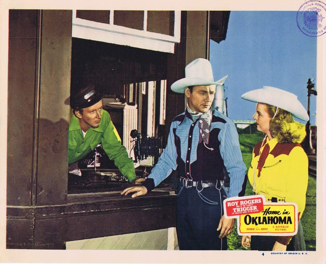 HOME IN OKLAHOMA Lobby Card 4 Roy ROgers Republic Western