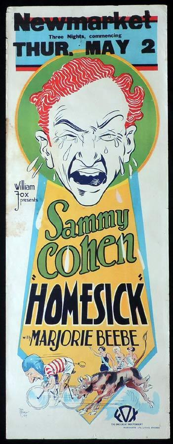HOMESICK Long Daybill Movie Poster 1928 Sammy Cohen Vintage Tom Ferry art