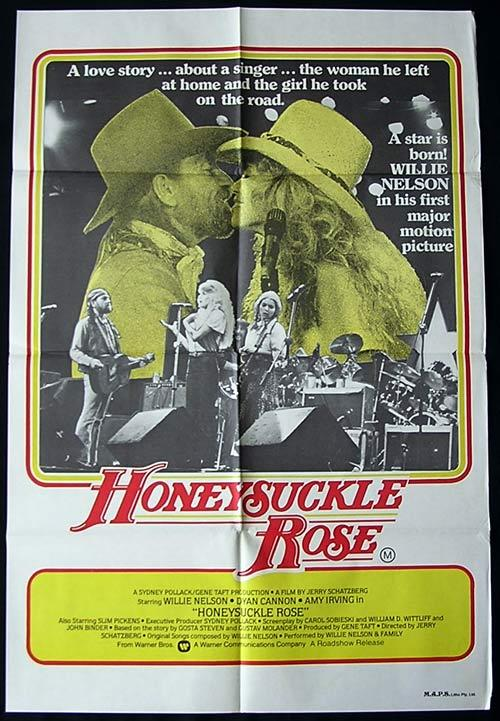 HONEYSUCKLE ROSE '80 Willie Nelson 1 Sheet poster