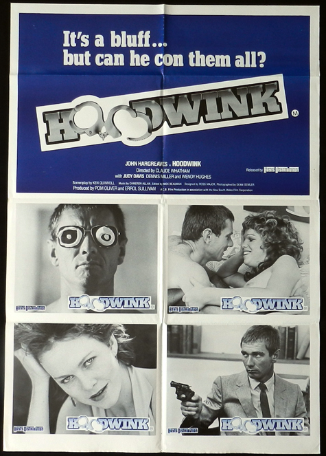 HOODWINK Photo Sheet Movie Poster 1981 John Hargraeves Rare Australian Movie Poster