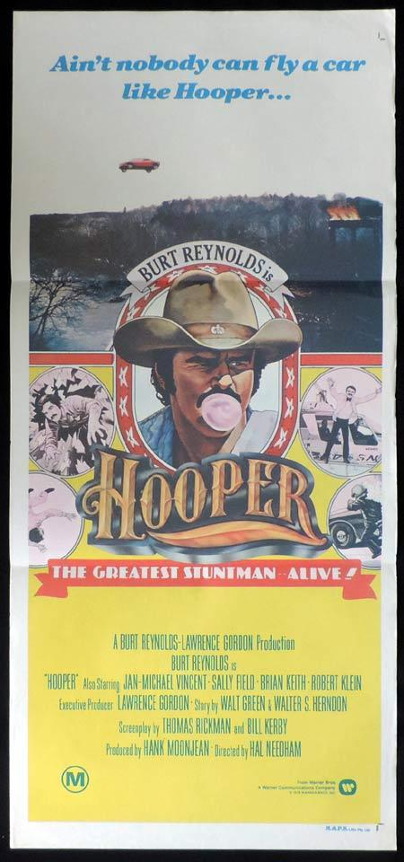 HOOPER Original Daybill Movie Poster Burt Reynolds