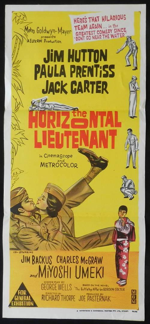 THE HORIZONTAL LIEUTENANT Daybill Movie poster Jim Hutton Paula Prentiss