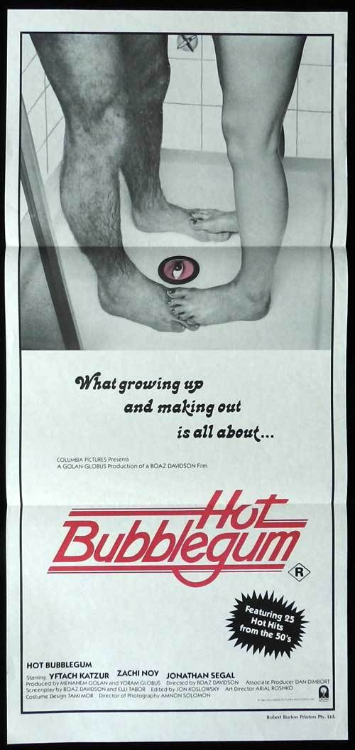 HOT BUBBLEGUM Australian daybill Movie poster Yftach Katzur Sexploitation