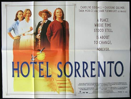 HOTEL SORRENTO Richard Franklin British Quad Movie poster