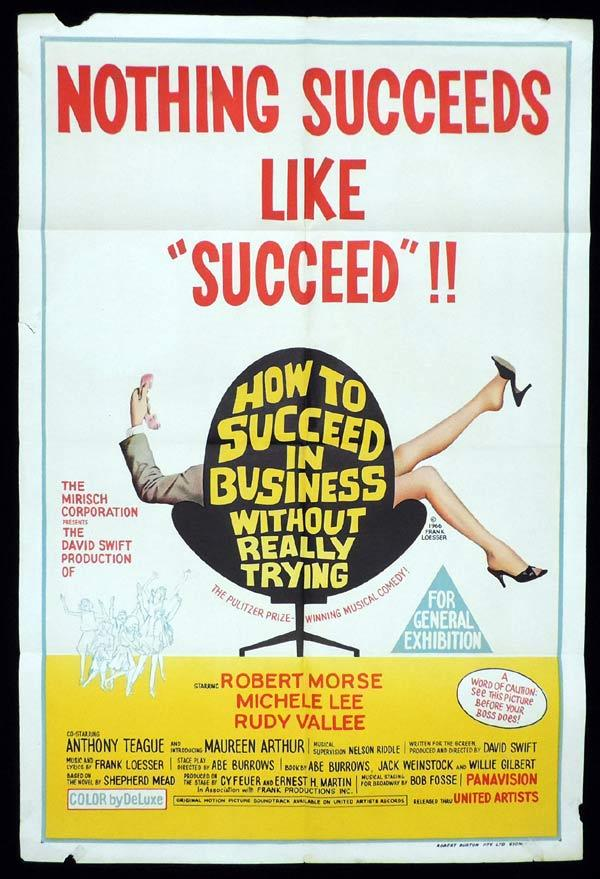 HOW TO SUCCEED IN BUSINESS WITHOUT REALLY TRYING One Sheet Movie Poster Robert Morse