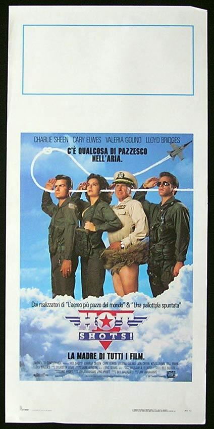 HOT SHOTS Italian Locandina Movie Poster Charlie Sheen