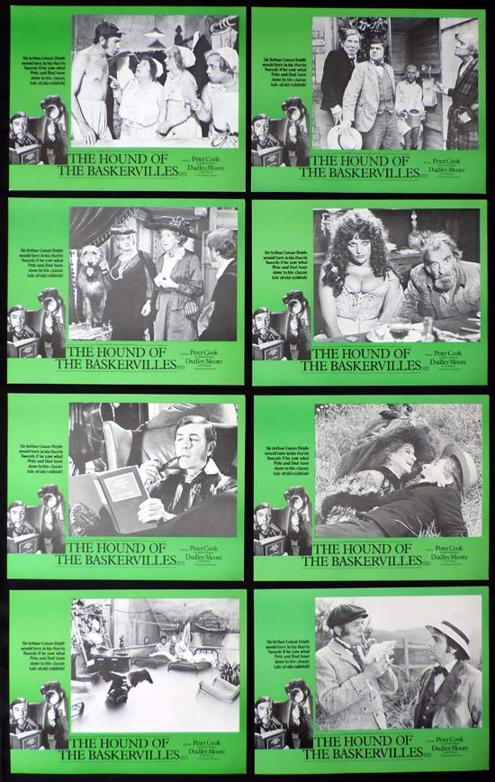 THE HOUND OF THE BASKERVILLES Lobby Card Set Peter Cook Dudley Moore Sherlock Holmes