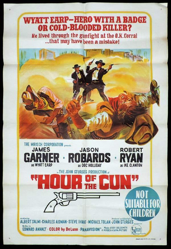 Hour of the Gun, John Sturges, Monte Markham, James Garner, Jason Robards Jr., Robert Ryan, Jon Voight, William Schallert, Lonny Chapman, William Windom, Michael Tolan, Larry Gates, Steve Ihnat, Charles Aidman, Albert Salmi, Bill Fletcher, Karl Swenson, Austin Willis, Richard Bull, Sam Melville, Frank Converse, Robert Phillips